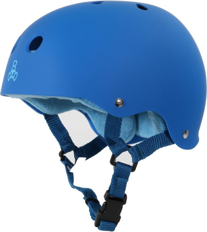 Triple 8 Pro Blue Rubber Helmet
