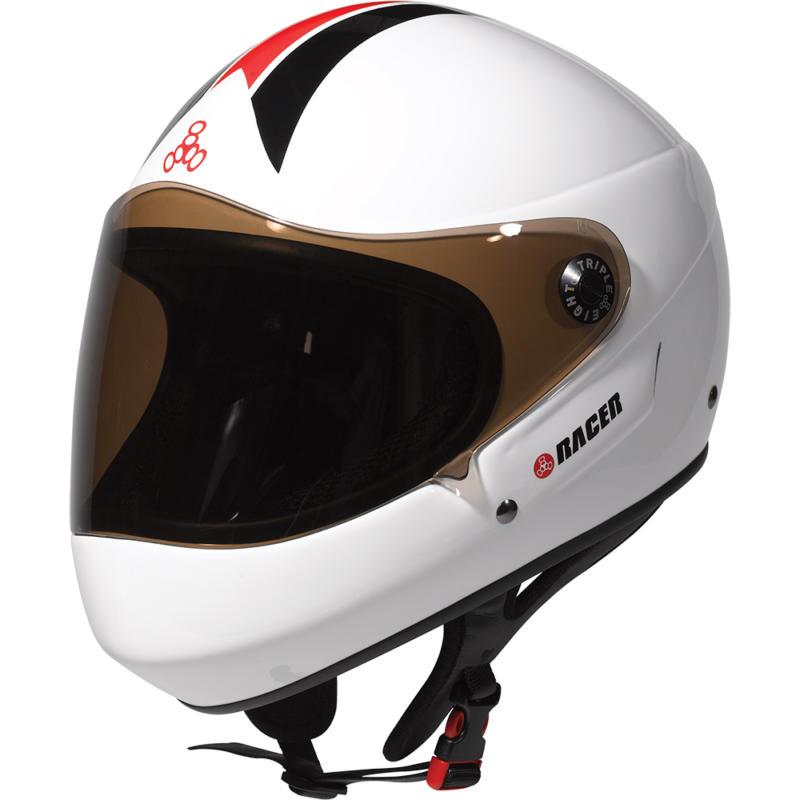 Triple 8 Racer Downhill Helmet – White Gloss