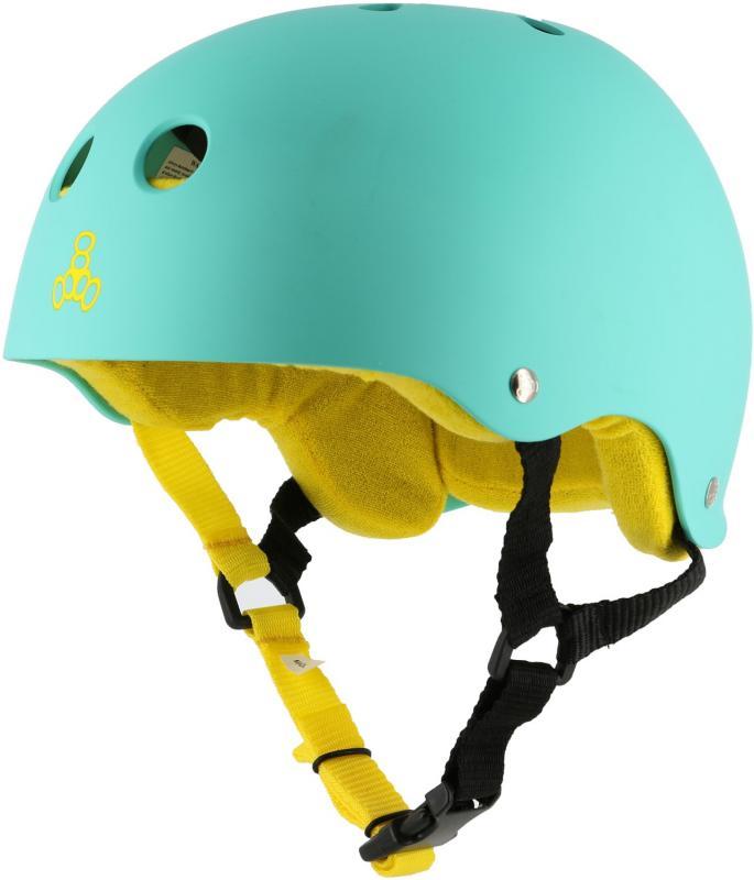 Triple 8 Pro Teal Rubber Helmet