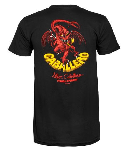 Powell Peralta Caballero Dragon 11 Black Tee