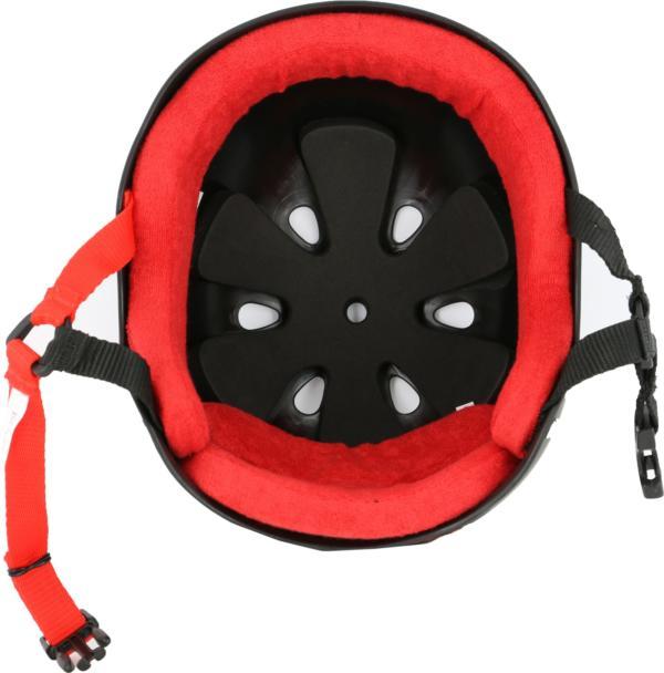 Triple 8 Pro Matt Black/Red Rubber Helmet