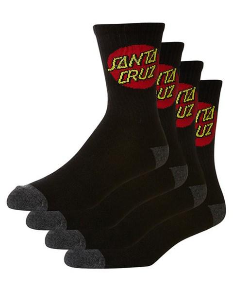 Santa Cruz Black Socks - 5 Pack