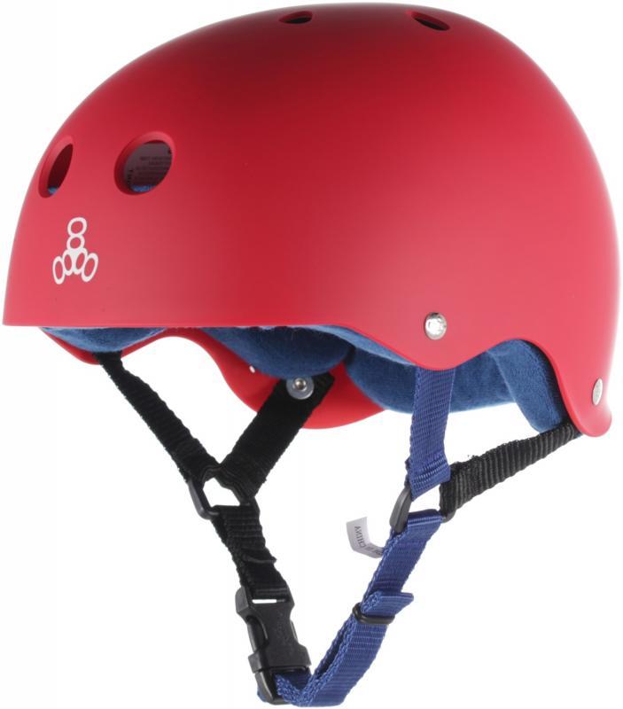 Triple 8 Pro United Red Rubber Helmet
