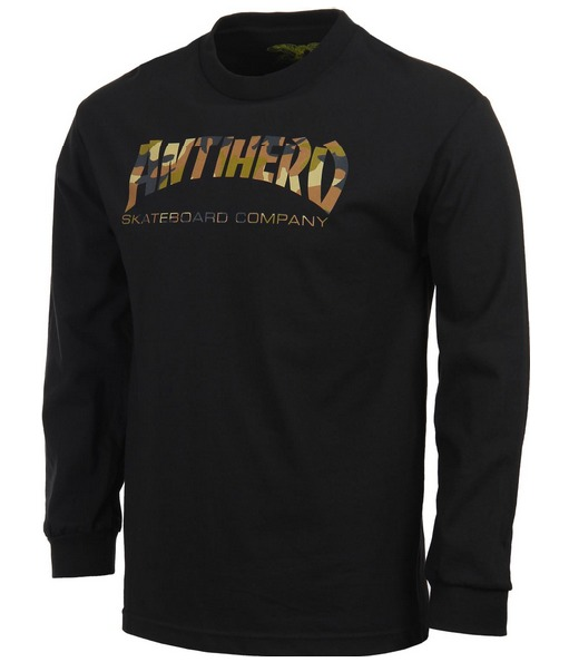 Anti Hero Skate Co Black-Camo Long Sleeve Tee