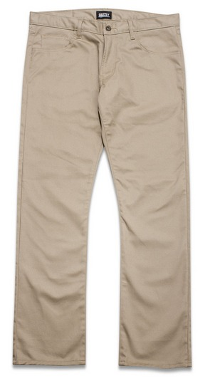 Grizzly Premium Chino Khaki Skateboard Pants