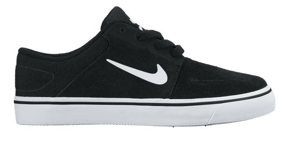 Nike SB Portmore GS Black-White-White Shoes