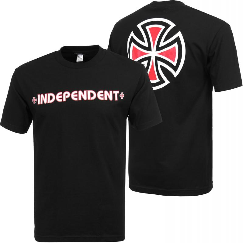 Independent Bar Cross Black Tee