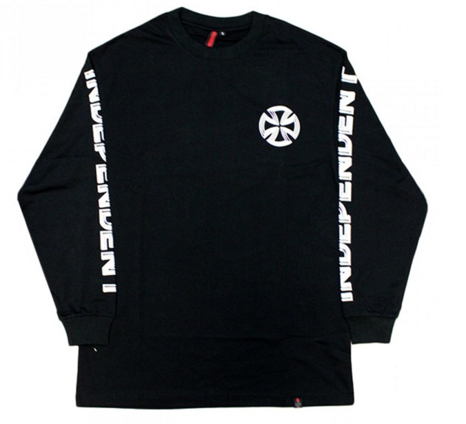 Independent Lines Black Long Sleeve Tee