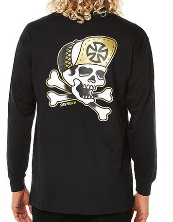 Independent Skateboard Trucks Dressen Skull N Bone Black Long Sleeve Tee