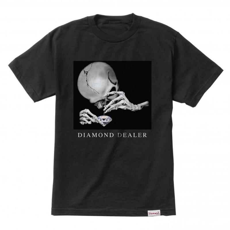 Diamond Supply Co Skeleton Black Tee