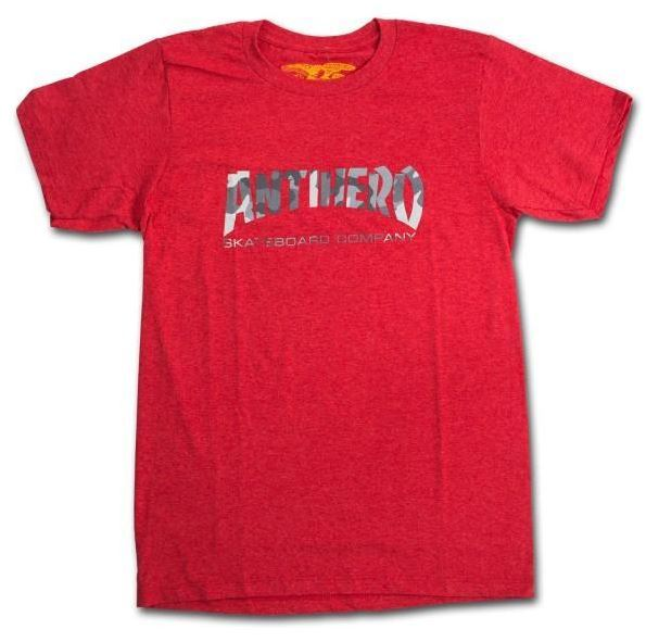 Anti Hero All Skate Co Red Camo Skateboard Tee