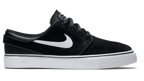 Nike SB Stefan Janoski GS Black/White-Gum Med Brown Shoes