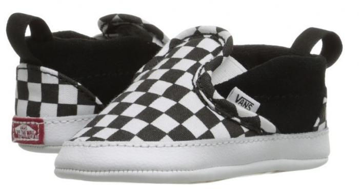 Vans Infant Checker Slip On V Crib Shoes