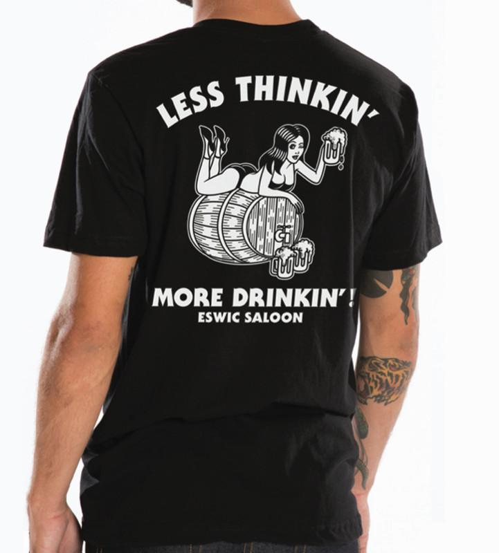 ESWIC Less Thinkin' Black Tee