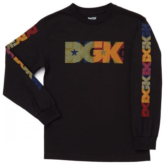 DGK Skateboards Primary Black Long Sleeve Tee