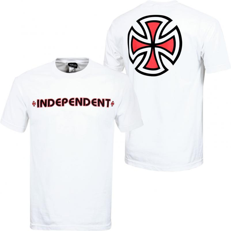 Independent Bar Cross White Tee