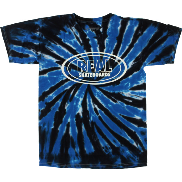 Real OG Oval Tie Dye Blue T-shirt