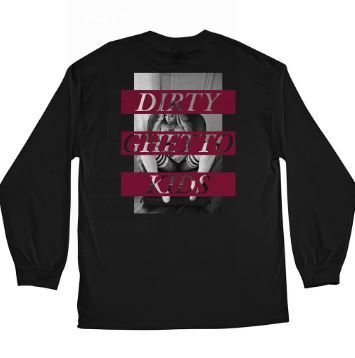 DGK Lounge Black Long Sleeve Tee