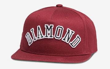 Diamond Supply Co Arch Burgundy Snapback