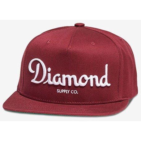 Diamond Supply Co Champagne Burgundy Snapback