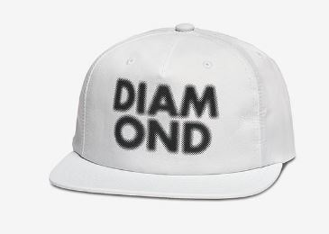 Diamond Supply Co. Blur White Snapback