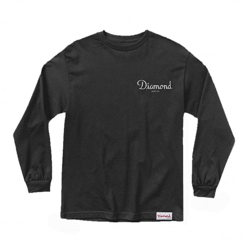 Diamond Supply Co. Champagne Long Sleeve Black Tee