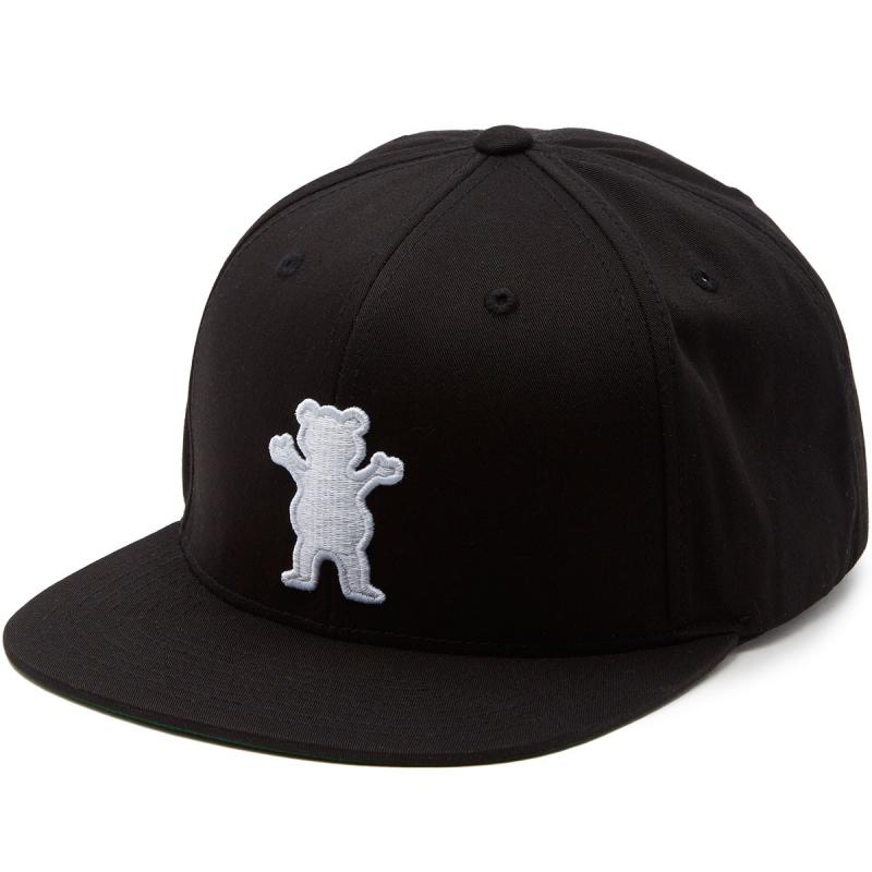 Grizzly OG Bear Black Strapback