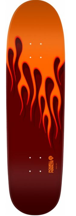 "Powell Peralta Hot Rod Flames Orange/Red 9.375"" Deck"
