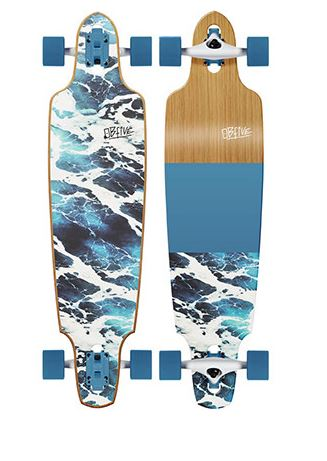 "OBfive White Wash Drop Through 38"" Longboard"