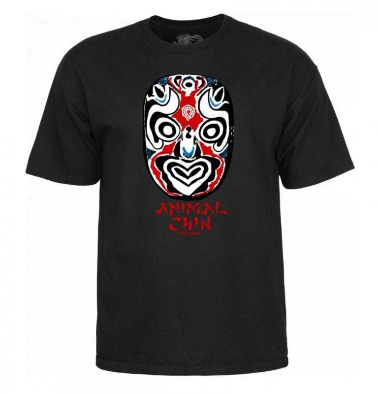 Powell Peralta Animal Chin Mask Black Tee