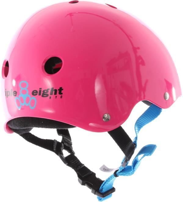 Triple 8 Pro Fuschia Rubber Helmet