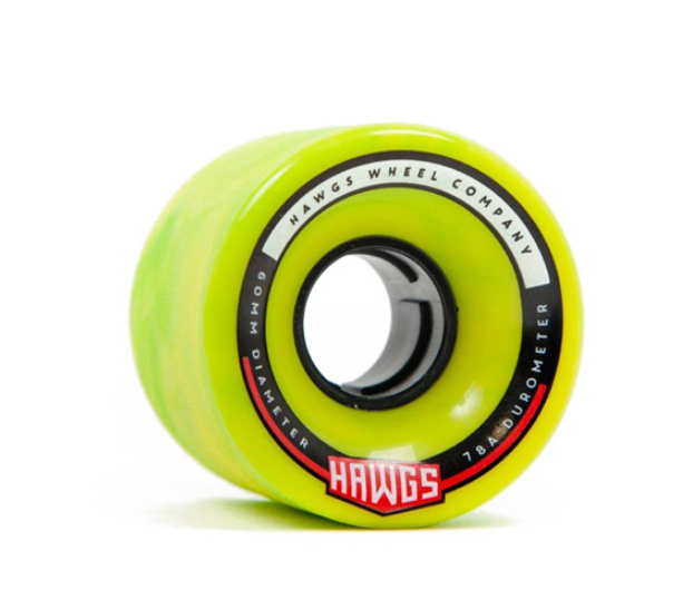 Hawgs Chubby 60mm x 78a Green Wheels