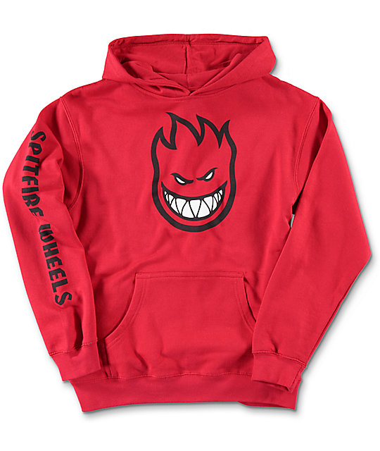 Spitfire Bighead Fill Red Youth Hoodie