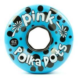 Abec 11 Pink Polka Dots 62mm x 81a Blue Wheels