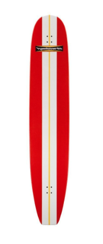 "Hamboard Classic Bamboo 6.6"" Red Complete"