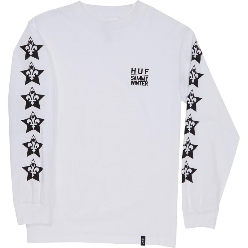 Huf X Sammy Winter White Long Sleeve Tee
