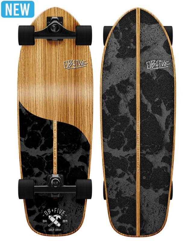 OBfive Skateboards Dark Waters Surf Skate RKP1 Complete