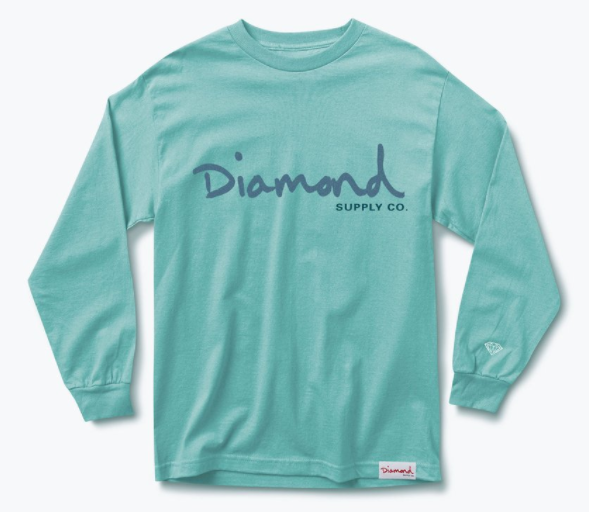 Diamond Supply Co. OG Script Blue Long Sleeve Tee