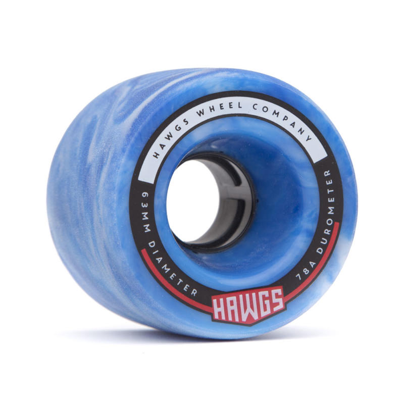 Hawgs Fatty 63mm x 78a Sky Blue Wheels