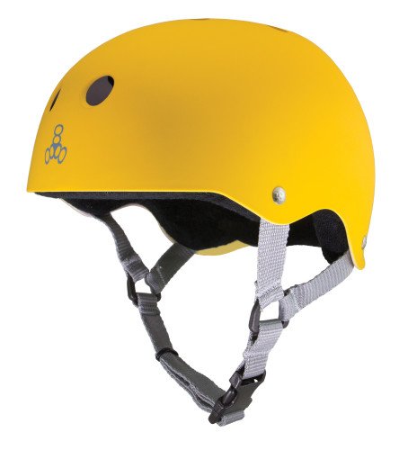 Triple 8 Pro Yellow/Black Rubber Helmet