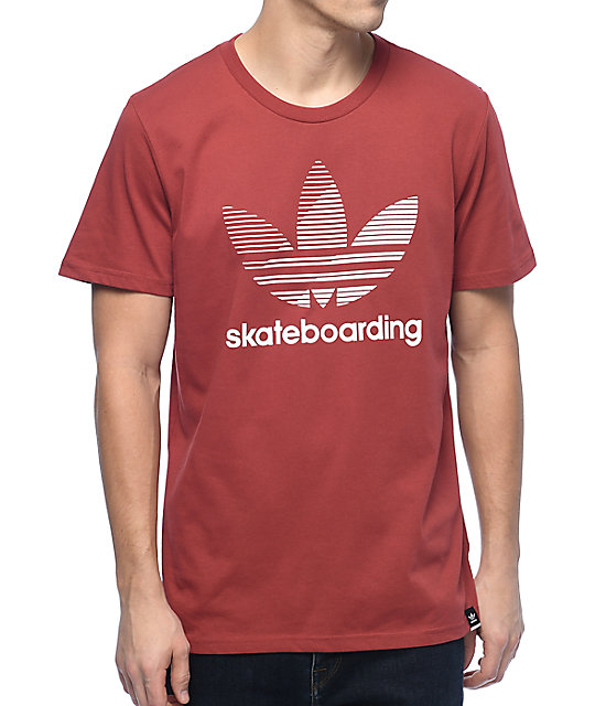 Adidas Clima 3.0 Logo Remix Red-White Tee