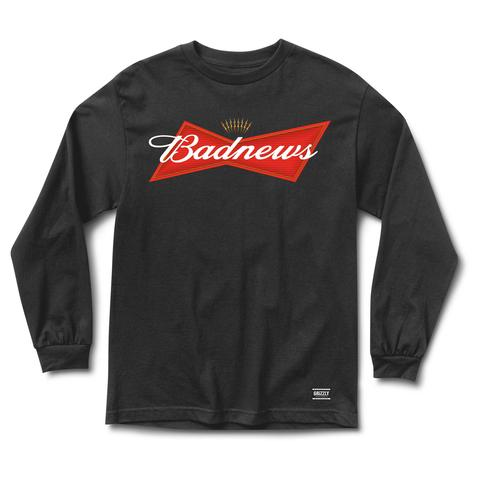 Grizzly Bud News Black Long Sleeve Tee