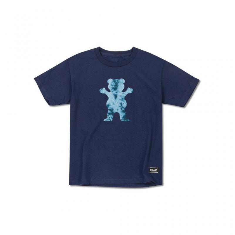 Grizzly OG Bear Tie Dye Navy Youth Tee