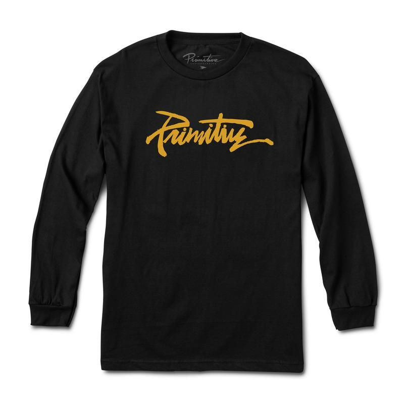 Primitive Skateboards Thrashed Black Long Sleeve Tee