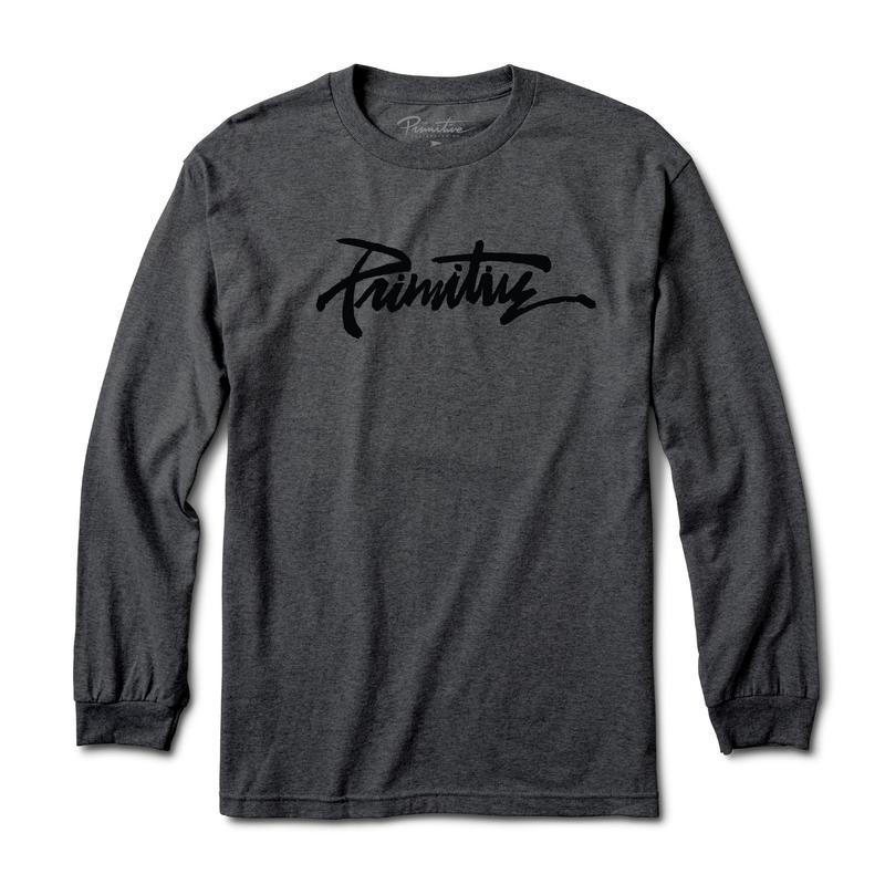 Primitive Skateboards Thrashed Grey Heather Long Sleeve Tee