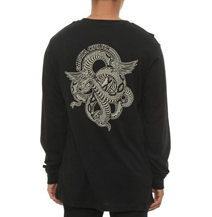 Santa Cruz Venomous Black Long Sleeve Tee