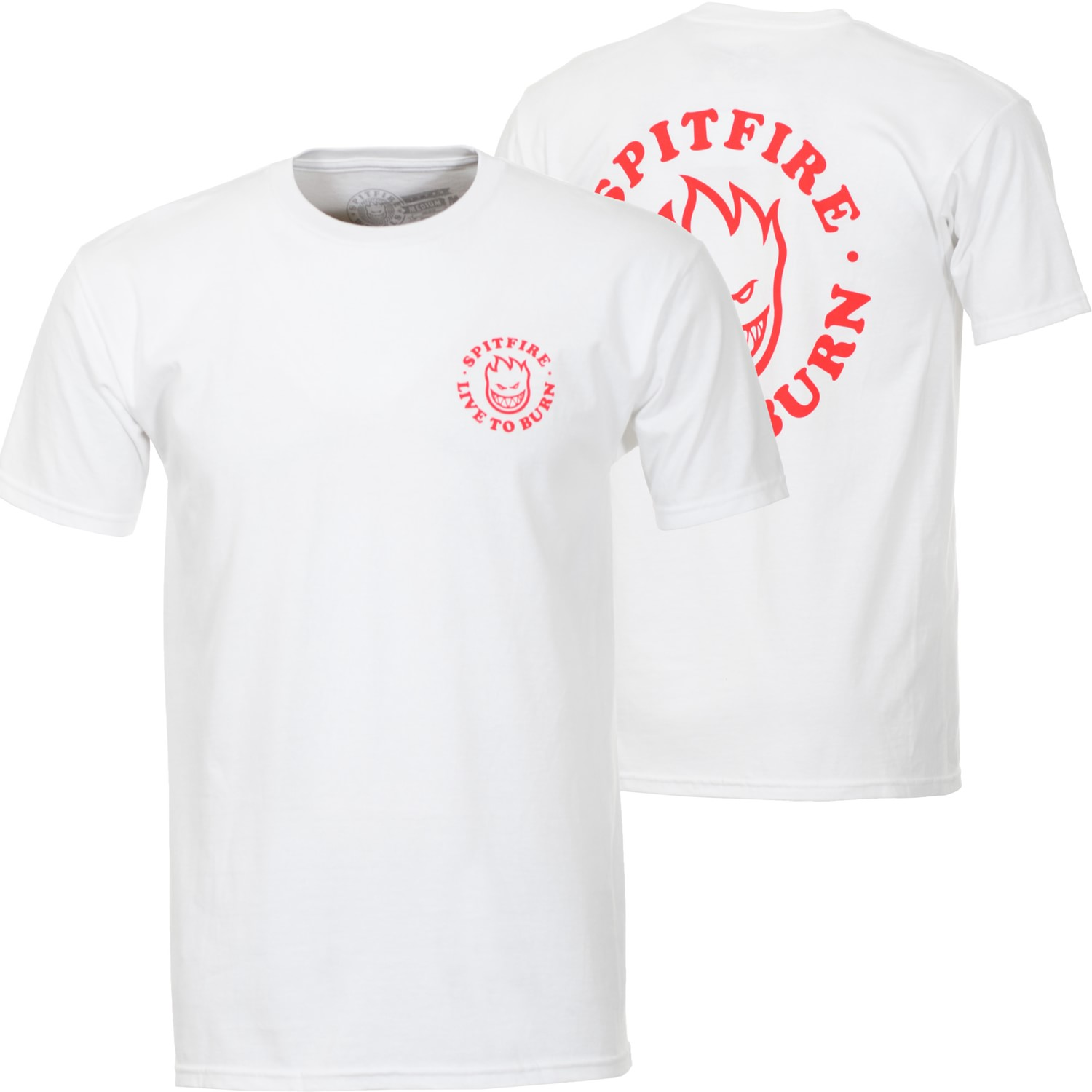 edc6455a4c71e0 Spitfire LTB Bighead White/Red Tee. Buy it now from Clines!