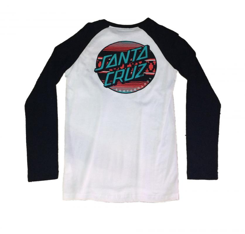Santa Cruz Serape Raglan Long Sleeve Tee