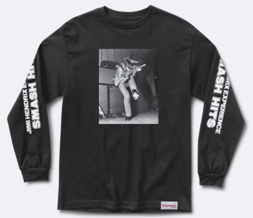 Diamond Supply Co. x Jimi Hendrix Experience Black L/S Tee