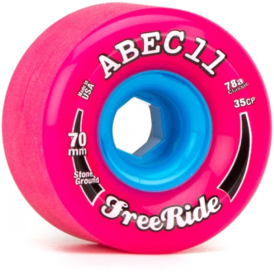 ABEC11 Classic FreeRide Pink 70mm x 78a Wheels